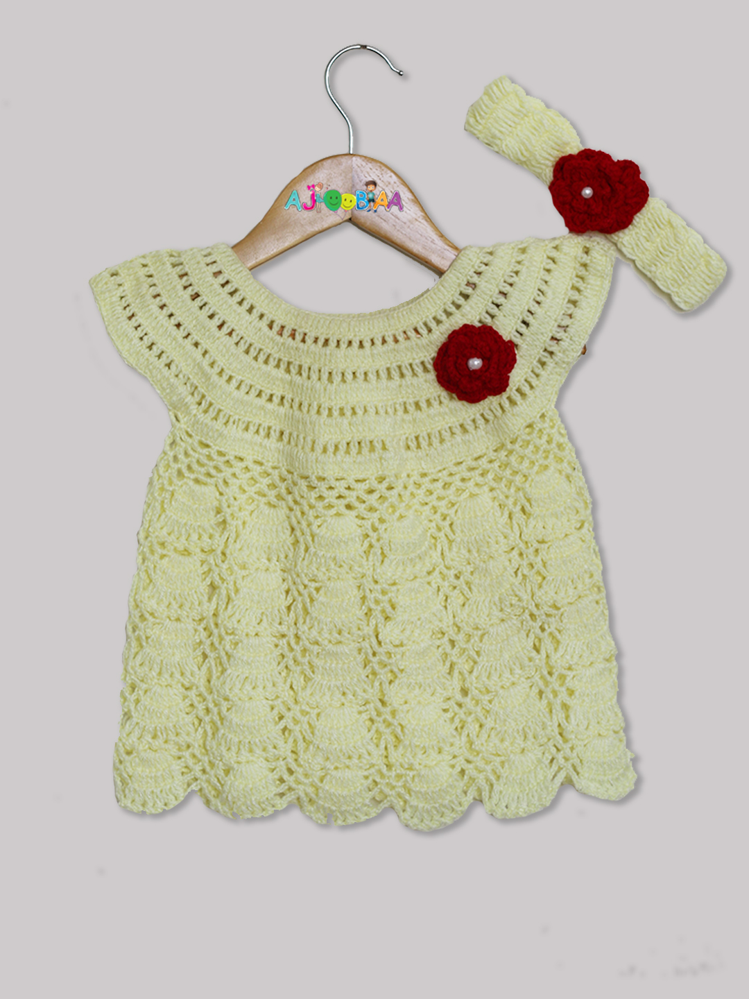 Woonie Handmade Lemon Frock with Headband