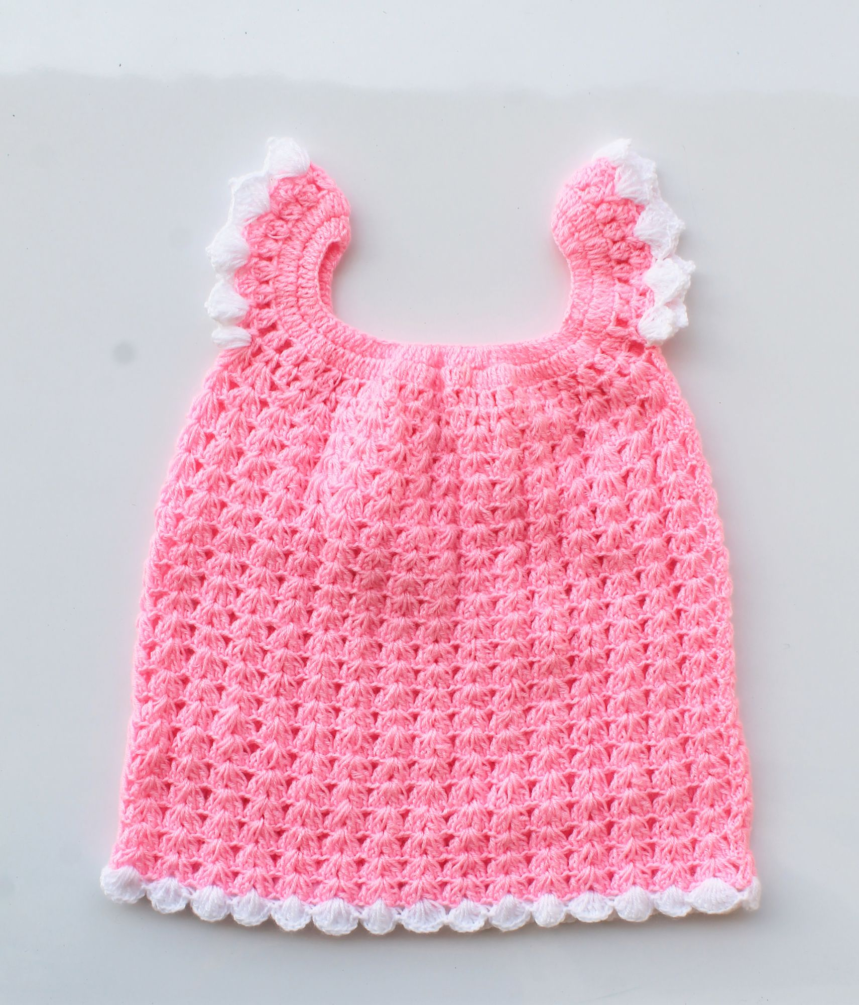 Baby Pink Woolen Frock with Headband