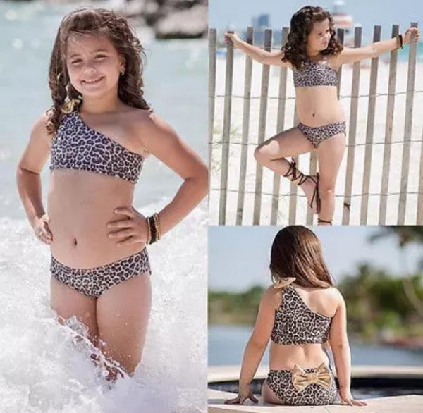 Animal Print swimwear With Headband
