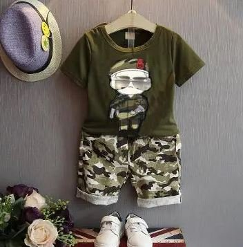 Army Boy Set With Attached Glasses