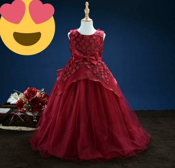 Beautiful Long Maroon Gown