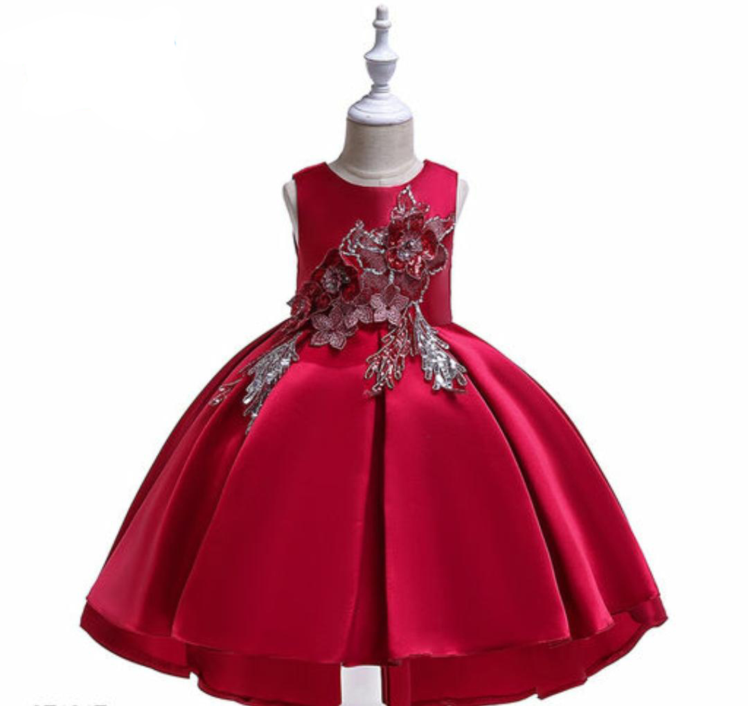 Beautiful Red Satin Frock