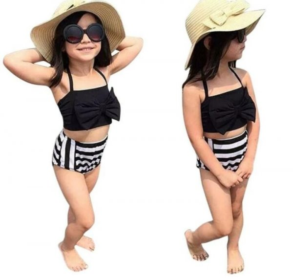 Black & white swimwear