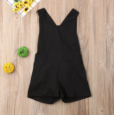 Black Backless Playsuit