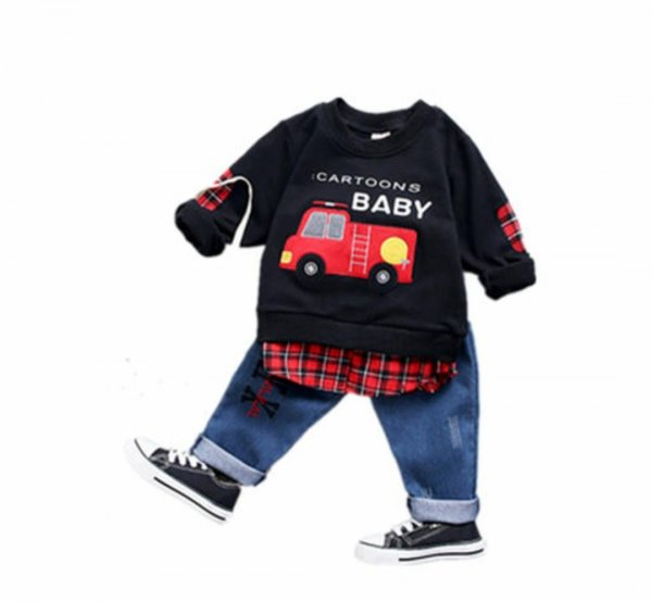 Black car Print Set for Boys