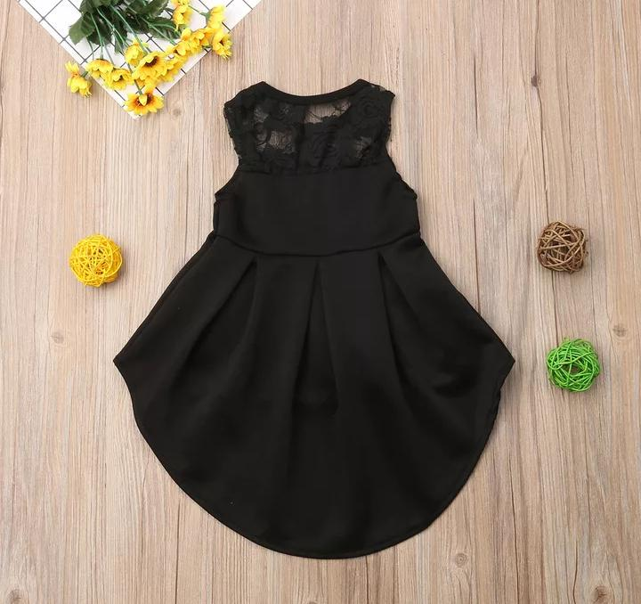 Black High Low Frock