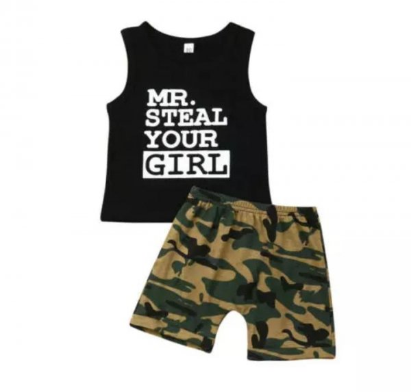Black Top with Army Short