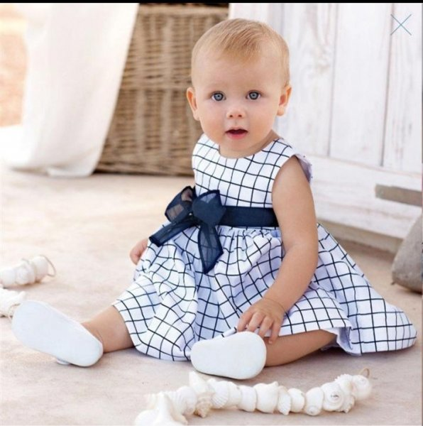 Blue and White checked Frock
