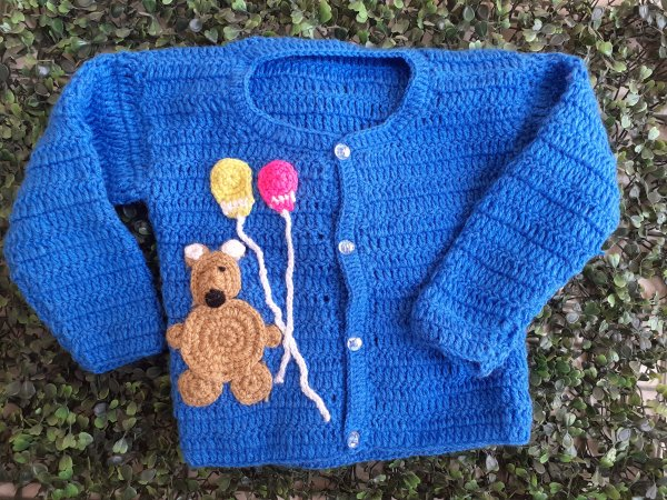 Blue Balloon Applique Sweater