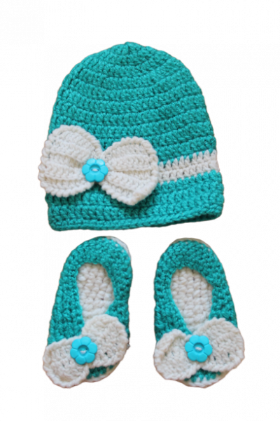 Blue Cap with Booties