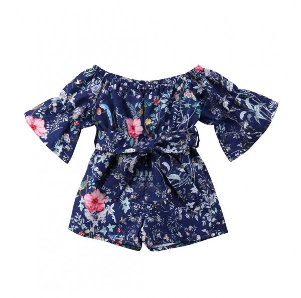 Blue Floral Playsuit