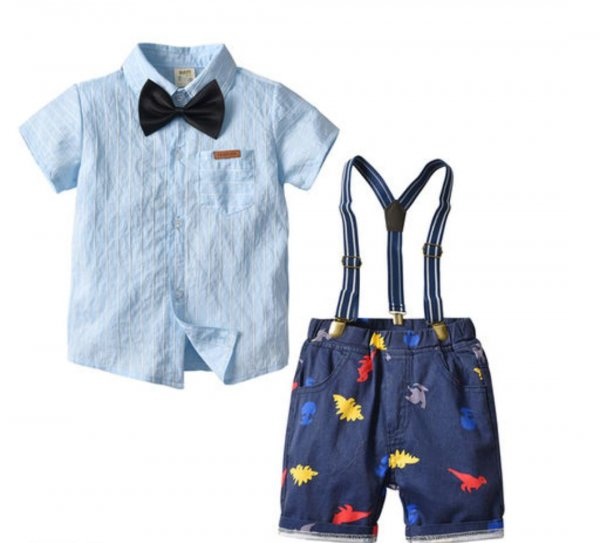 Blue Set with Suspenders or Bow