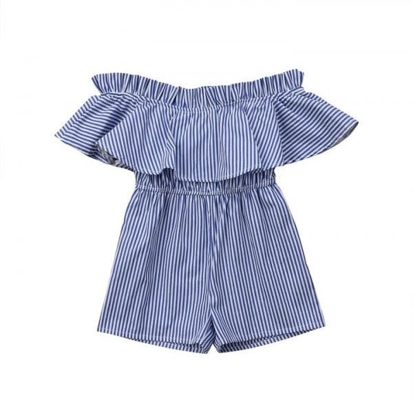 Blue Striped Playsuit