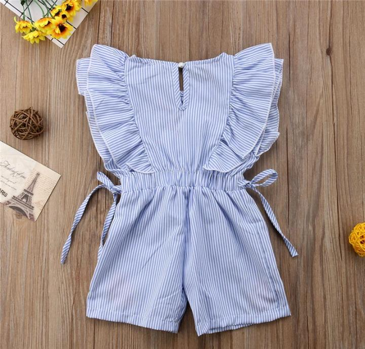 Blue Stripped play Suit