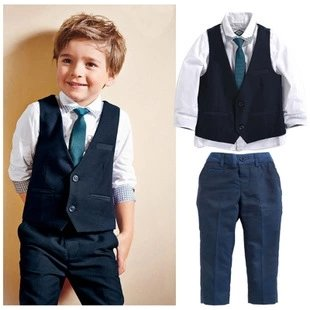 Boys 4 Pc Set with Waistcoat and Tie