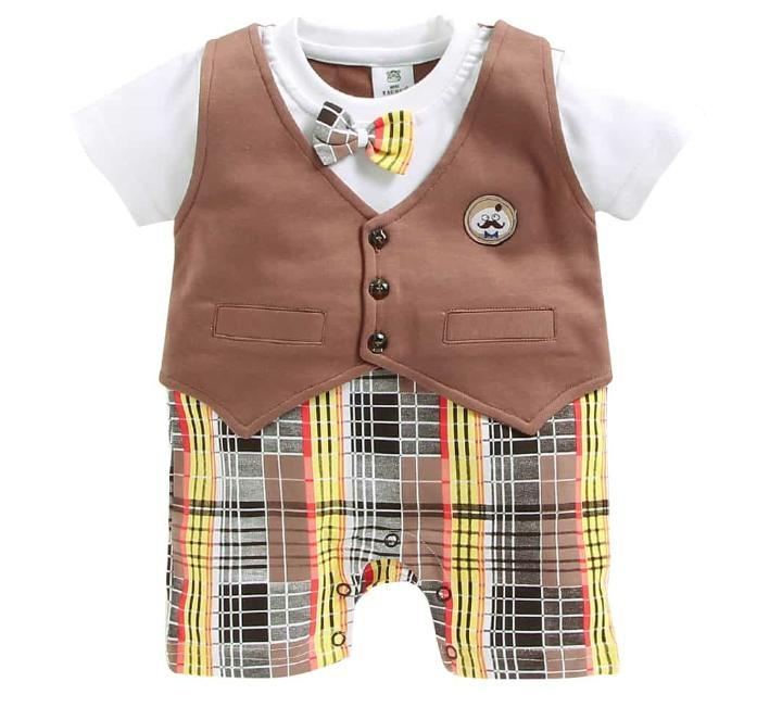 Boys attached waistcoat Romper
