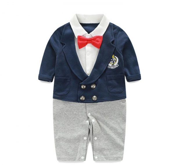 Boys double breasted formal Romper