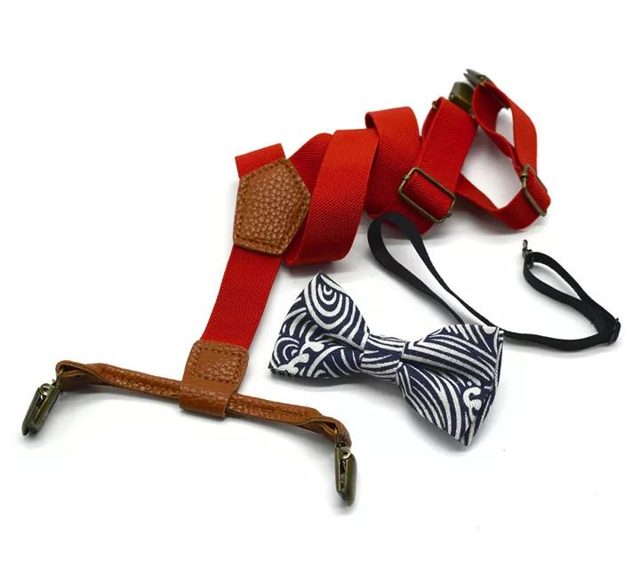 Boys Suspender with Bow
