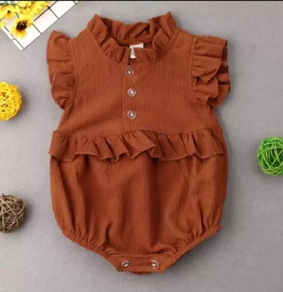Brown Summer Romper