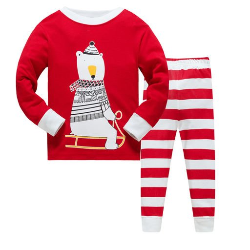 Boys Red Striped Nightwear set
