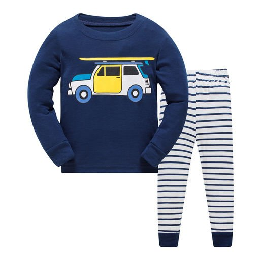 Unisex Car Print Nightwear set
