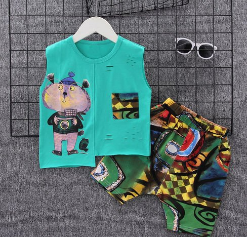 Boys Sleeveless Summer set