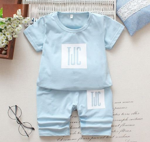 Boys Blue Color Block set