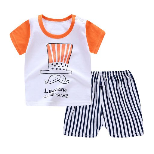 Boys  Striped Half Sleeve set