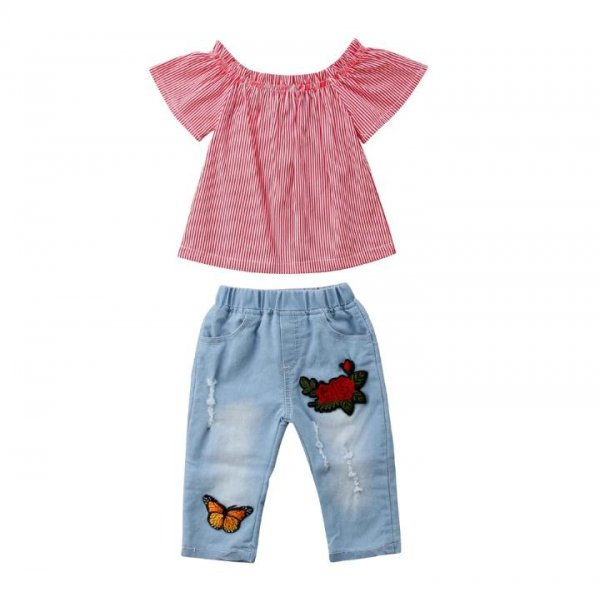 Butterfly Aplique Denim with Top