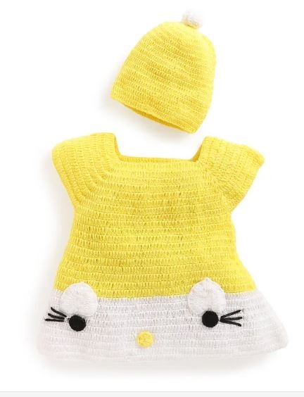 Yellow Kitty Midi with Cap