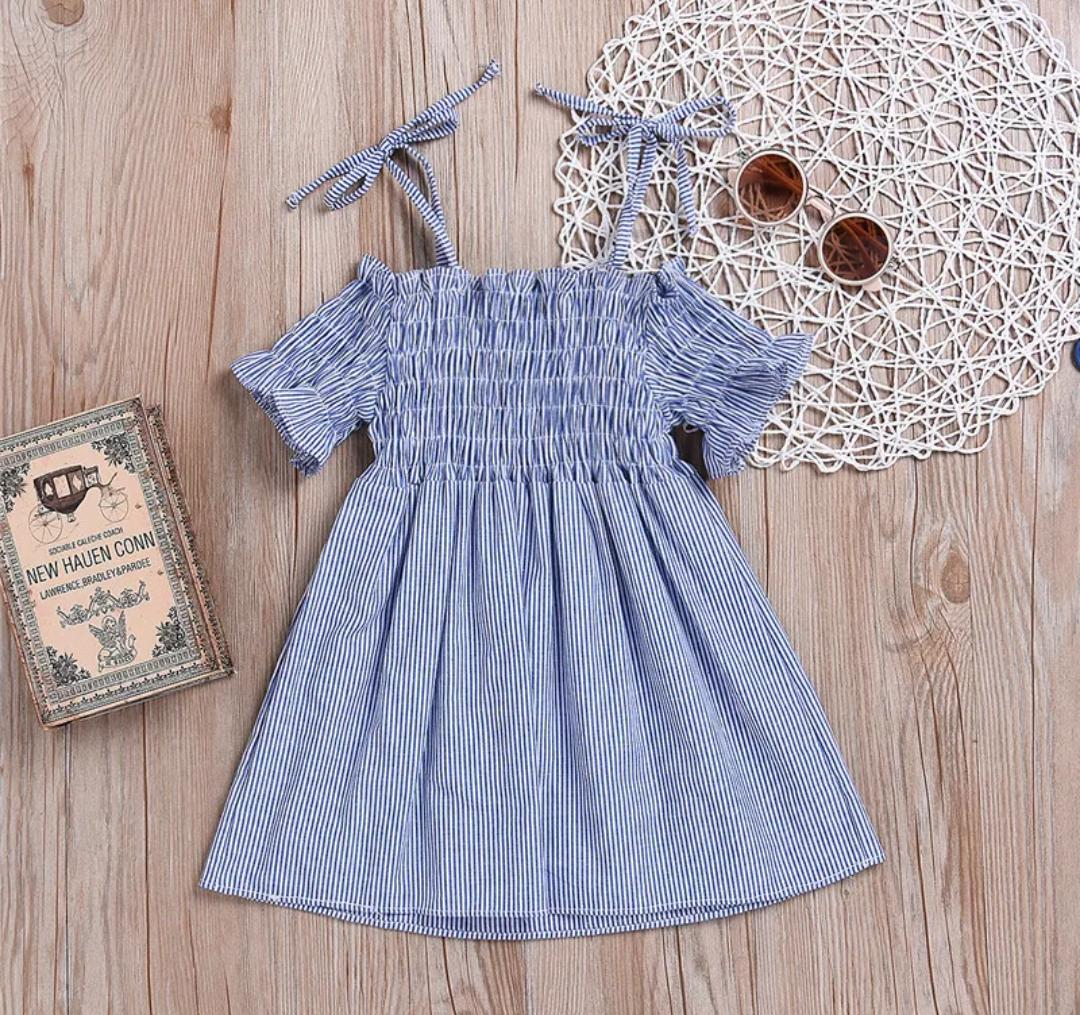 Cold Shoulder Blue Dress