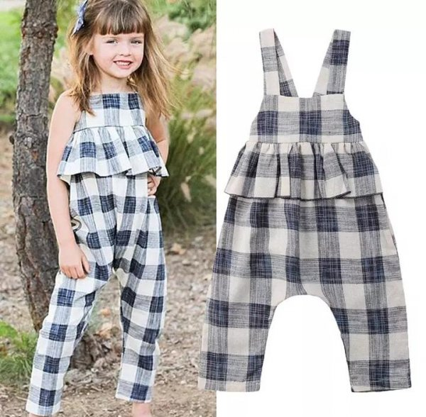 Cotton  Checked Jumpsuit
