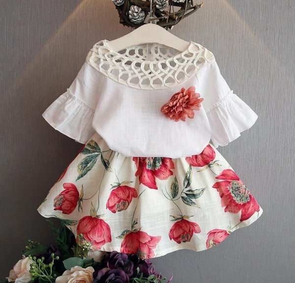 Cotton Light weight Floral Skirt Set
