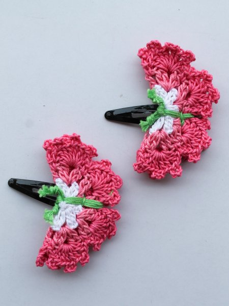 Handmade Crochet Multicolor Butterfly Tic Tac Hair Pins for Girls-Yellow