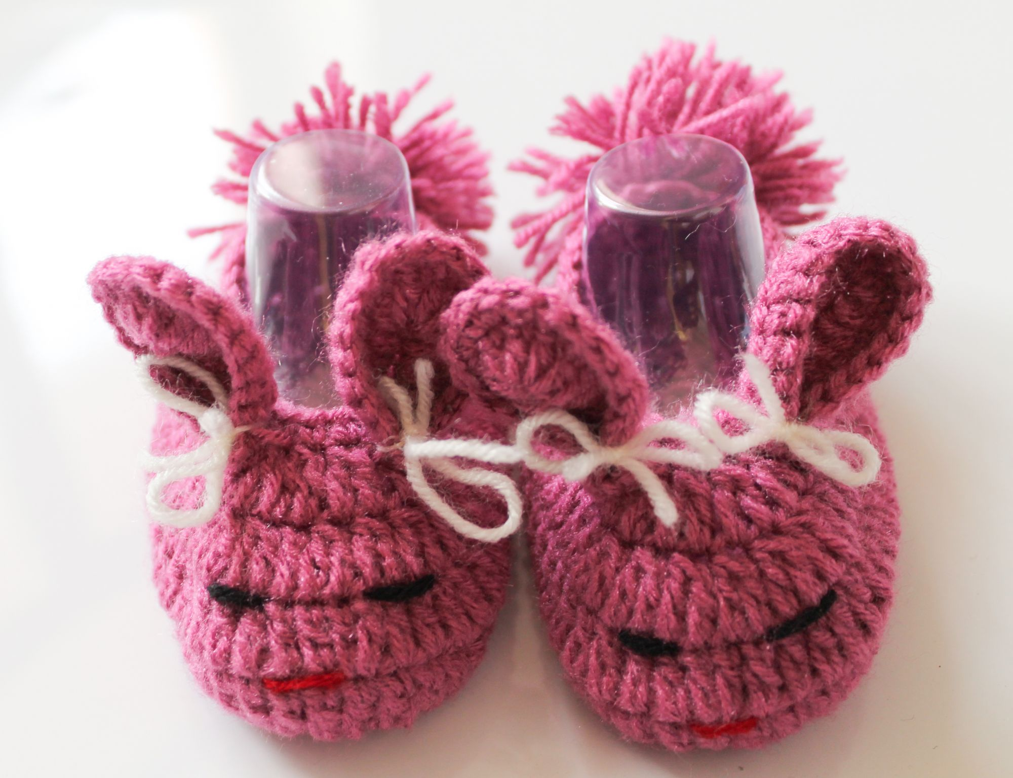 Woonie Handmade Purple Bunny Booties