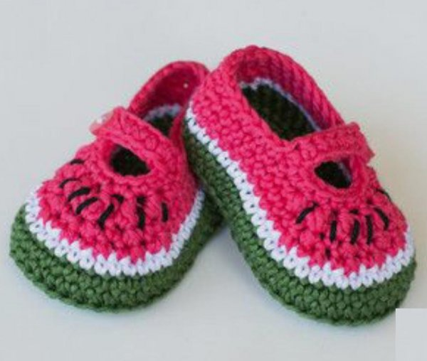 Woonie Handmade Watermelon Booties