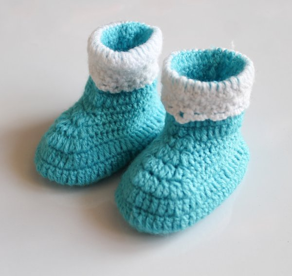 Woonie Blue Handmade Woolen Boots for Kids