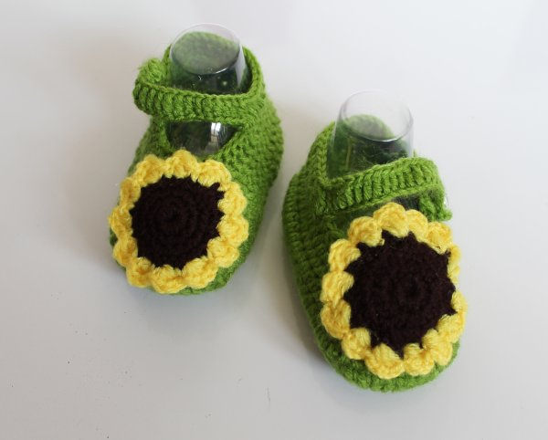 Woonie Handmade Sunflower Booties