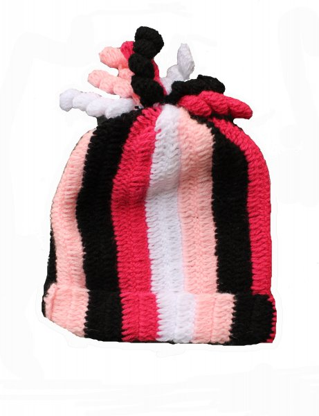 Multicolored Swirl Woolen Cap for Infants