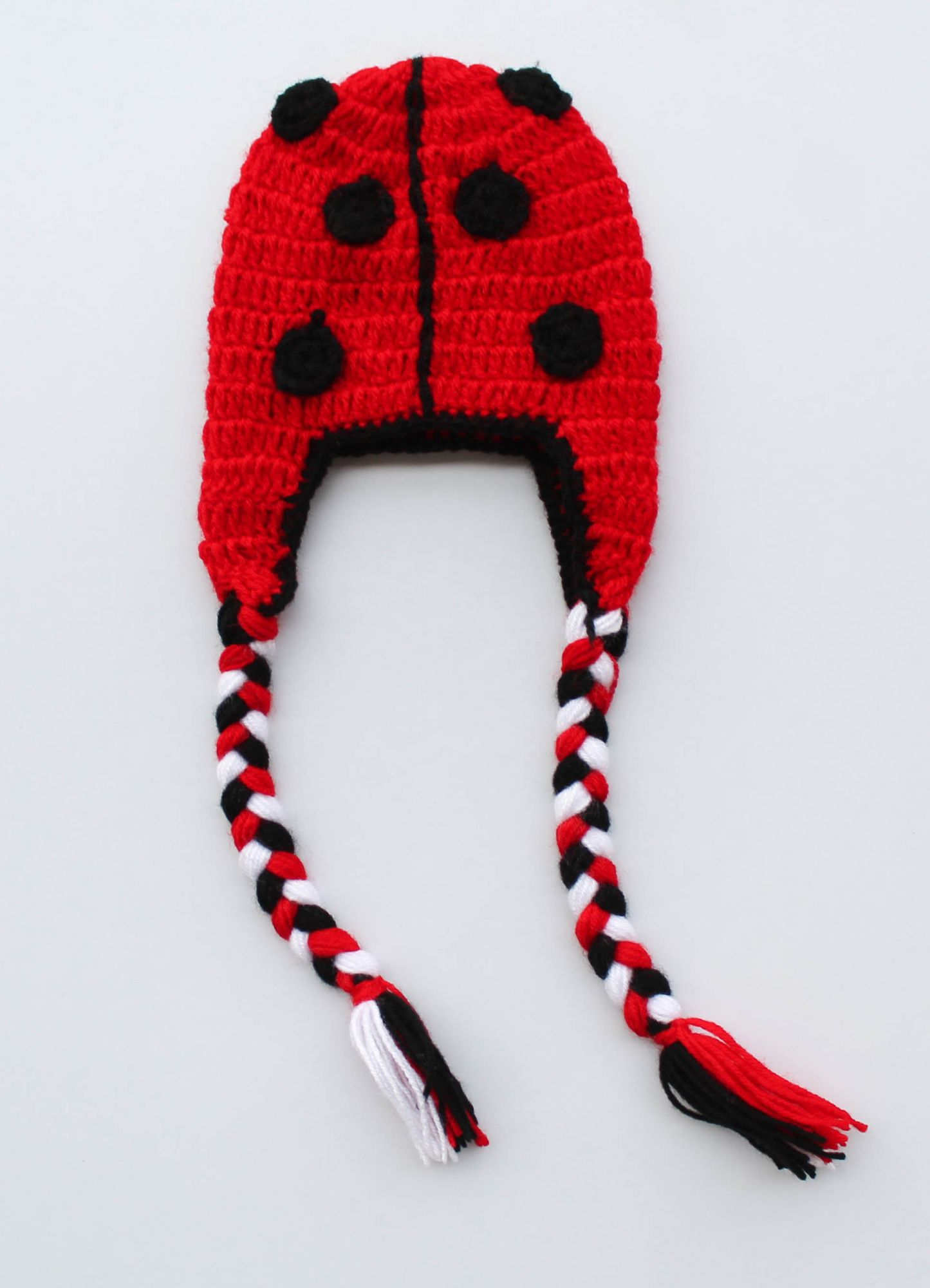 Red Bug Woolen Cap for Infants