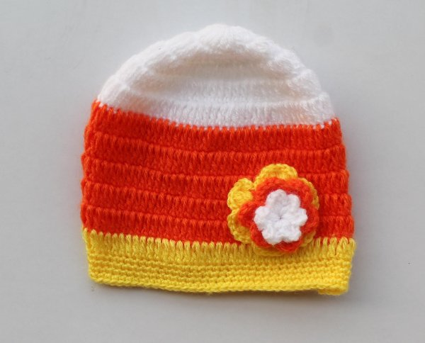 Multicolored Floral Woolen Cap for Infants