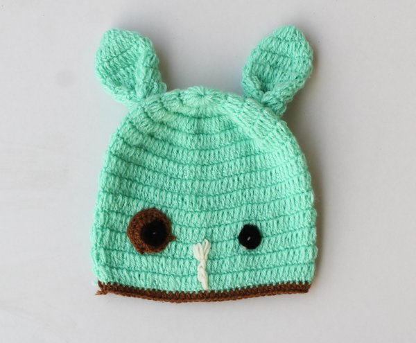 Green Woolen Cap for Infants