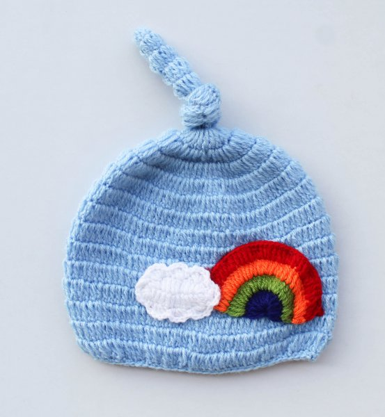 Bue Rainbow Woolen Cap for Infants