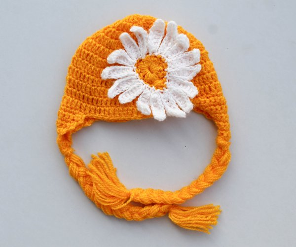 Sunflower Woolen Cap for Infants
