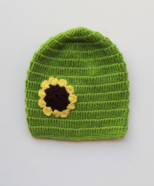 Sunflower Green Cap