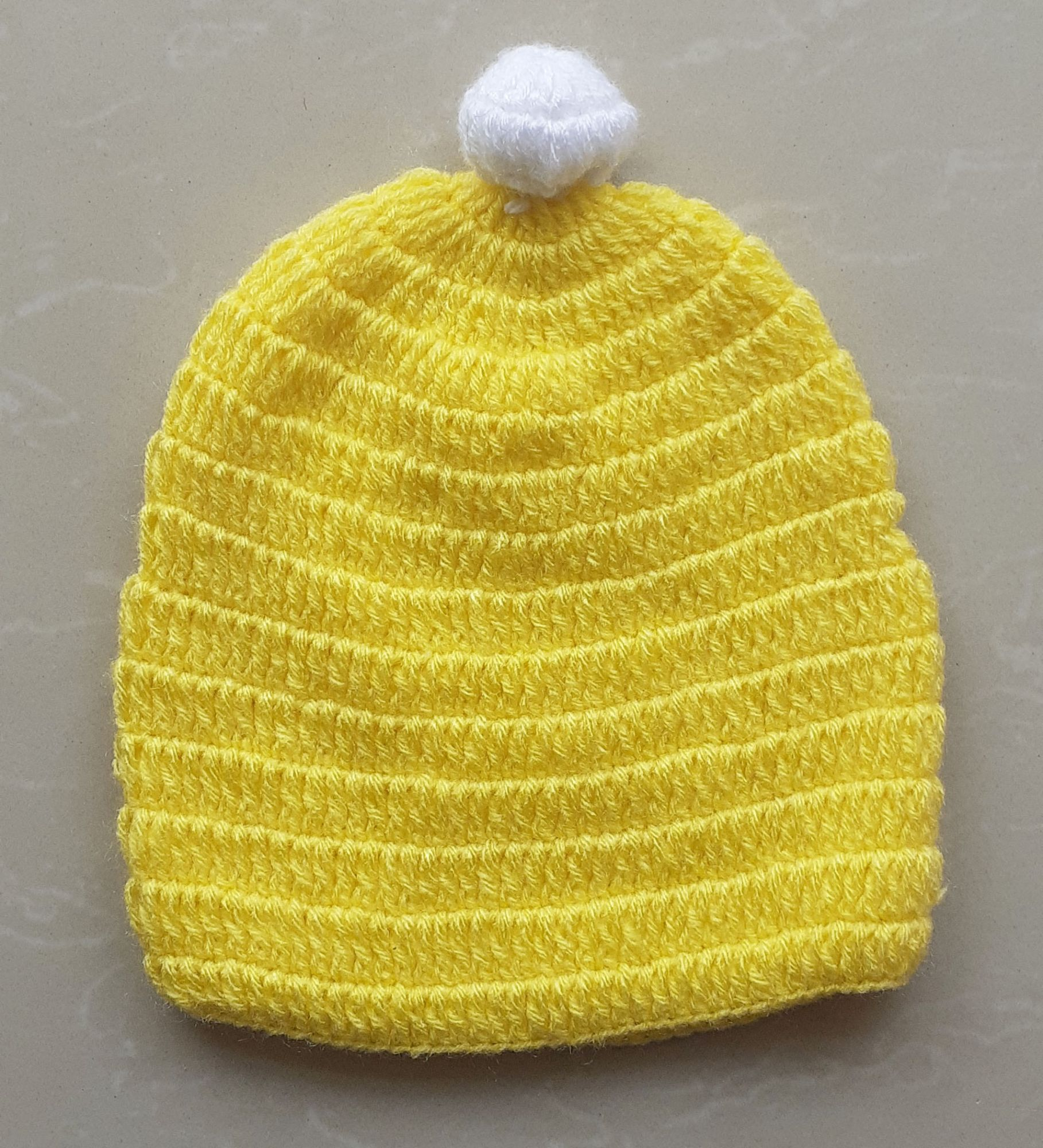 Cute Yellow Cap for Infants