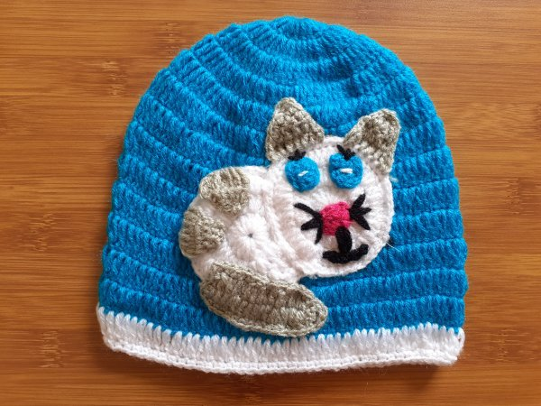 Blue Cat Cap for Infants