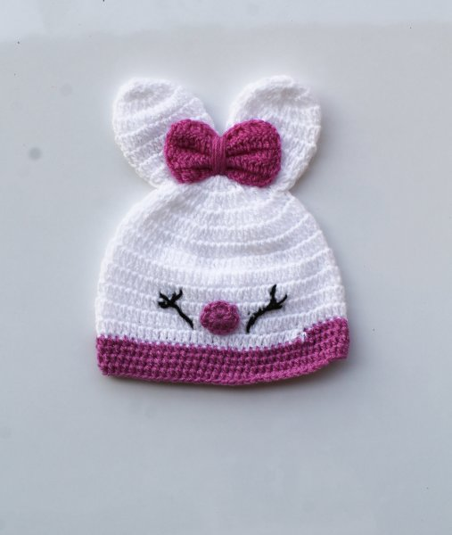 Cute White Bow Cap