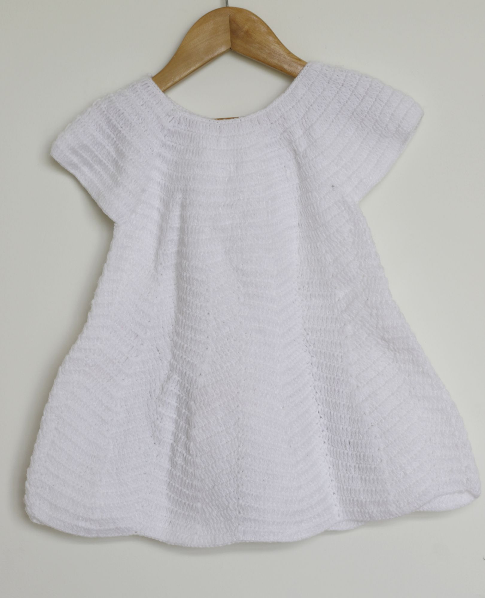 Owl Applique Woolen Frock for Girls
