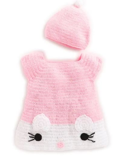 Pink Kitty Midi with Cap